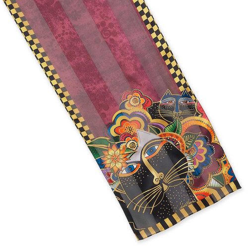 Laurel Burch Carlottas Cats Silk Scarf LBS207