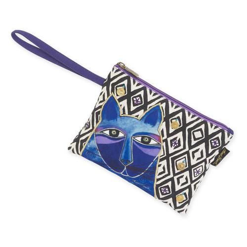 Laurel Burch Whiskered Cats Blue Wristlet Case LB5632D