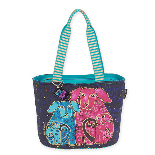 Laurel Burch Blossoming Pups Medium Tote LB5563