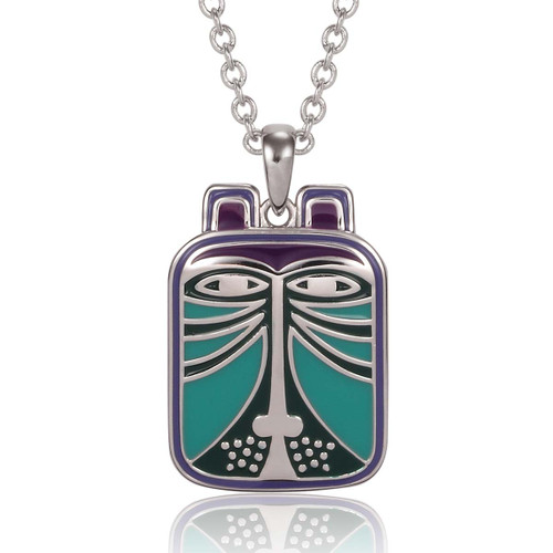 Toshio Cat Laurel Burch Necklace Blue - 5004
