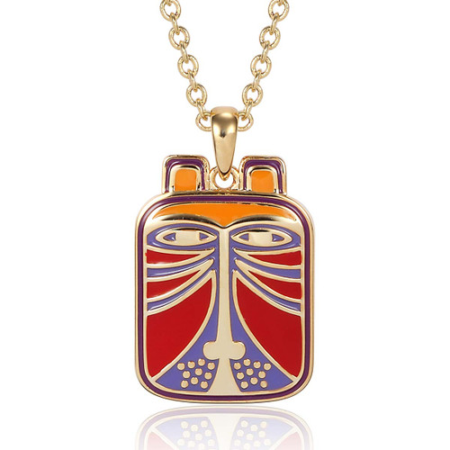 Toshio Cat Laurel Burch Necklace Red - 5006