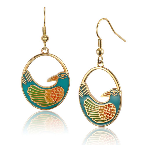 Nile Bird Laurel Burch Earrings - 5008