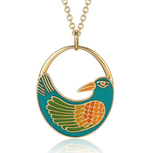 Nile Bird Laurel Burch Necklace Turquoise 5009