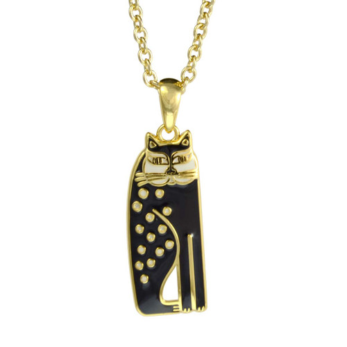 Siamese Cat Laurel Burch Necklace Black-Cream 5025