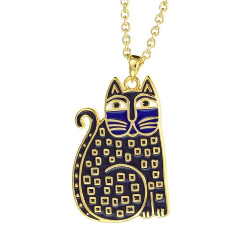 Indigo Cat Laurel Burch Necklace - 5028