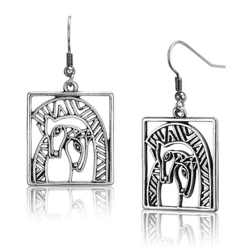 Embracing Horses Laurel Burch Earrings - 5045