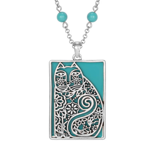 Elijah's Garden Laurel Burch Necklace Turquoise - 5047