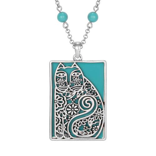 Elijah's Garden Laurel Burch Necklace Turquoise - 5047
