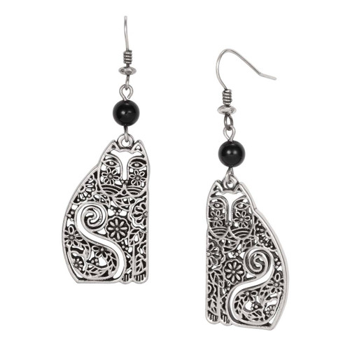 Elijah Laurel Burch Earrings Black 5048