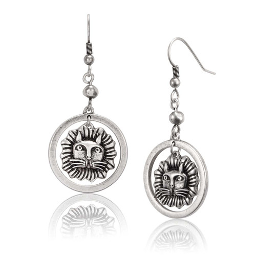 Tigre Tiger Feline Laurel Burch Earrings - 5059
