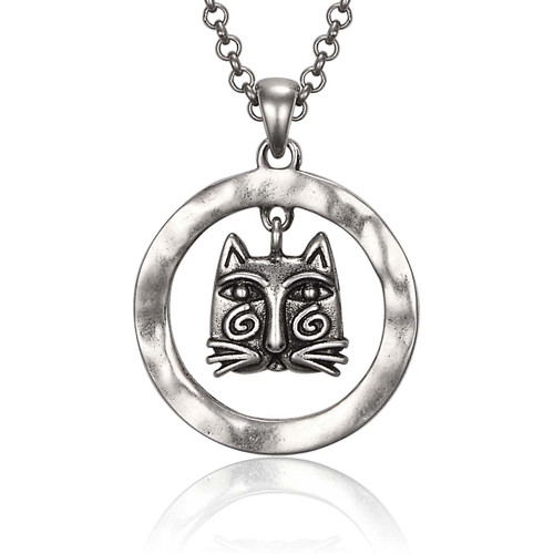 Whirly Cat Laurel Burch Necklace - 5060