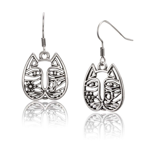 Cat Face Laurel Burch Earrings - 5064