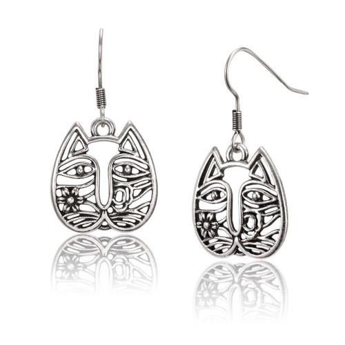 Cat Face Laurel Burch Earrings - 5064