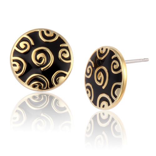 Jubilee Stud Laurel Burch Earrings Black-Gold - 6016