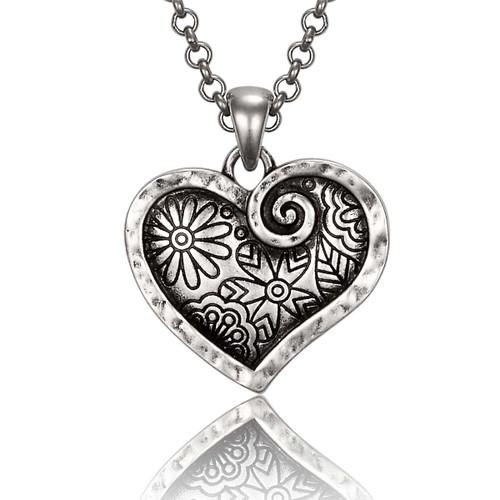 Blooming Heart Laurel Burch Necklace - 6092