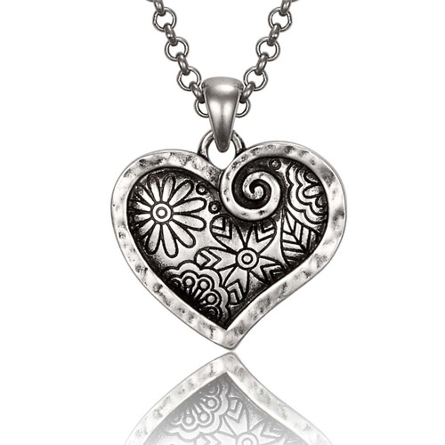 Blooming Heart Laurel Burch Necklace - 6092