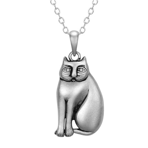 Mystic Cat Sterling Silver Laurel Burch Necklace - 4005