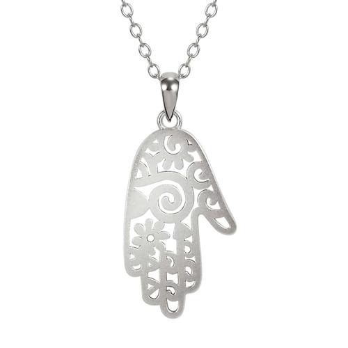 Healing Hand Sterling Laurel Burch Necklace 4023