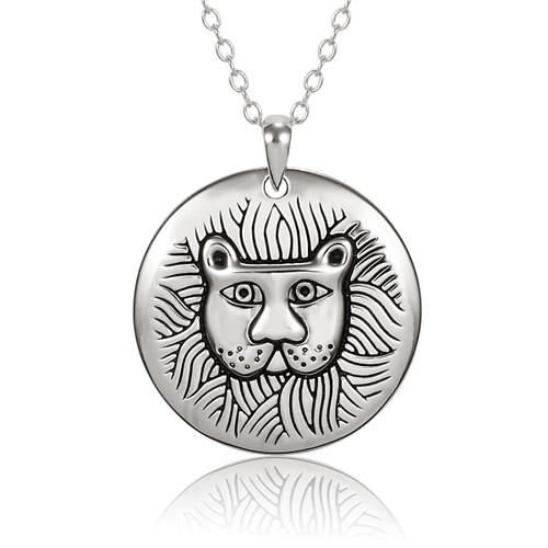 Marsh Lion Sterling Silver Laurel Burch Necklace 4026