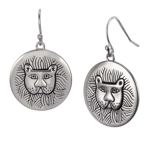 Marsh Lion Sterling Laurel Burch Earrings 4031