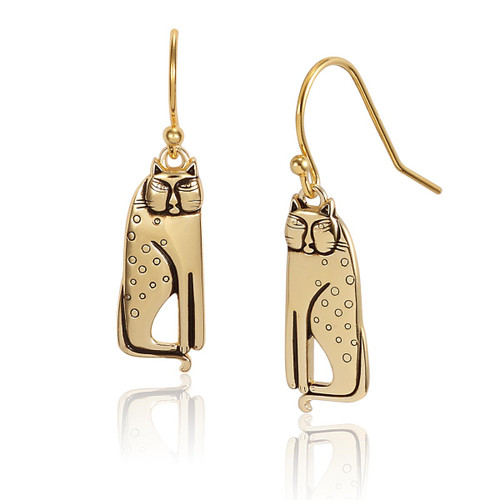 Siamese Cats 14K Gold Plated Laurel Burch Earrings - 4038