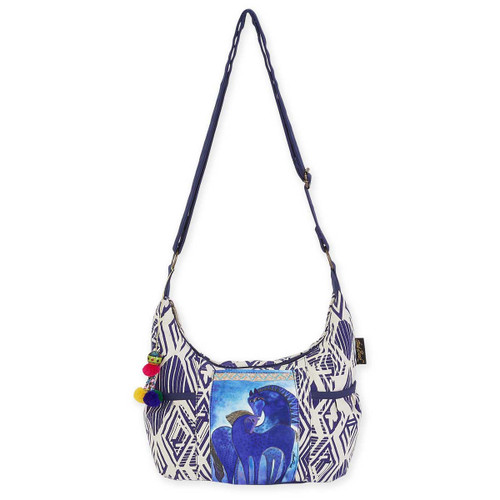 Laurel Burch Indigo Mares Medium Scoop Crossbody Tote LB5592