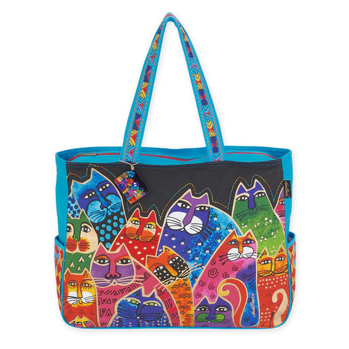 Laurel Burch Whiskered Family Oversized Tote LB5600