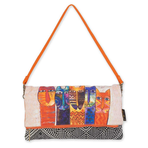 Laurel Burch Long Necks Cats Flap Clutch LB5750E