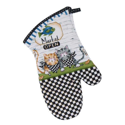 Cat Fish Market Oven Mitt - R3065