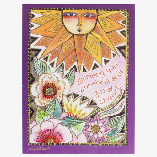 "Laurel Burch Card Get Well ""Sunshine"" - GWG11972"