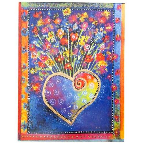 Laurel Burch Blooming Heart Small Birthday Card BTN95480
