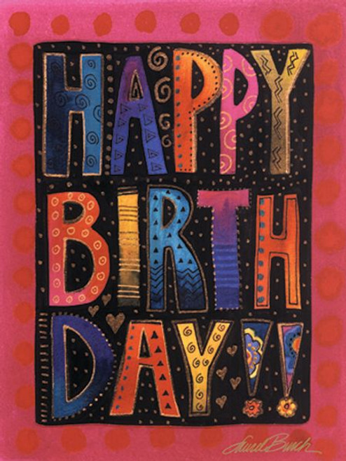 "Laurel Burch Small Card ""Happy Birthday"" - BTN95482"