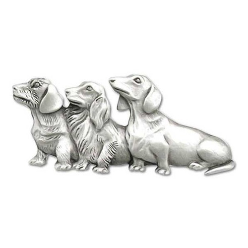Dog Trio Doxie Pewter Pin - 1884PP