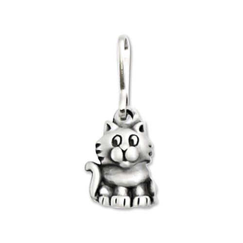 Cute Kitty Cat Pewter Zipper Pull 2674ZP