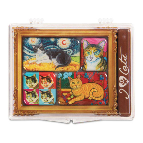 Short Hair Cat - 6 Magnet Set - 12000