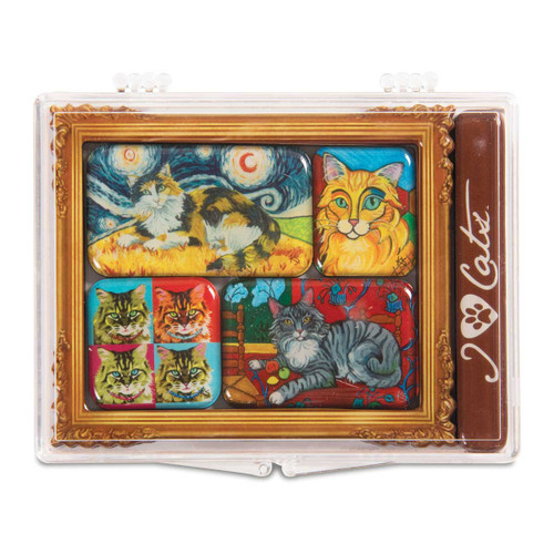 Long Hair Cat 6 Magnet Set 12001