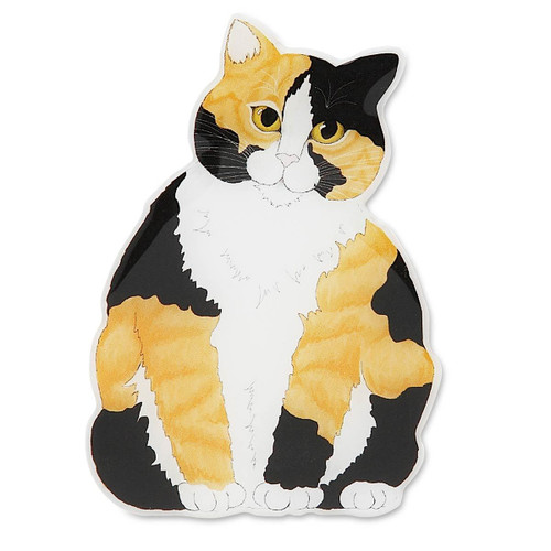 "Calico Cat Shape Magnet - Approx Measures 2"" x 1.75"" - 45440"