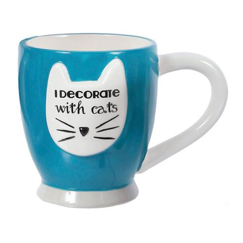 Cat Decorate Coffee Tea Mug 40192BLU