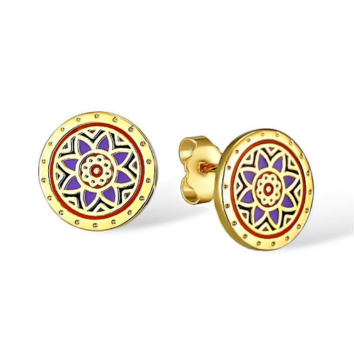 Floret Post Laurel Burch Earrings Blue - 6040