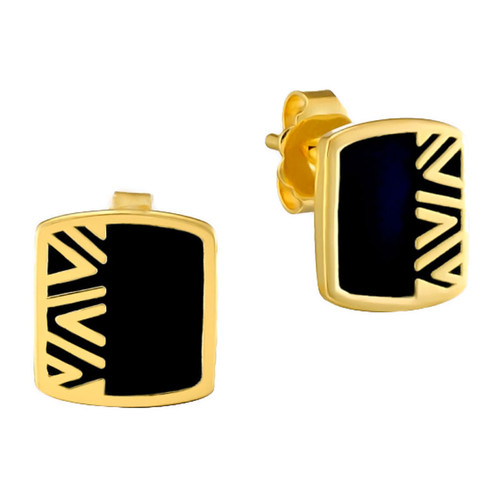 Rain Dance Post Laurel Burch Earrings Black - 6045