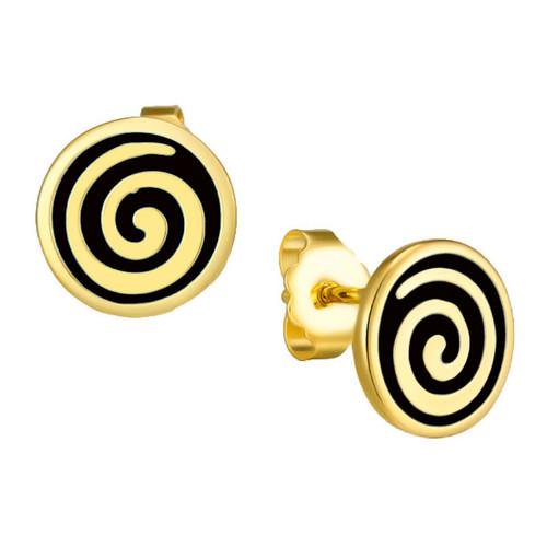 Black Swirl Stud Post Laurel Burch Earrings - 6042