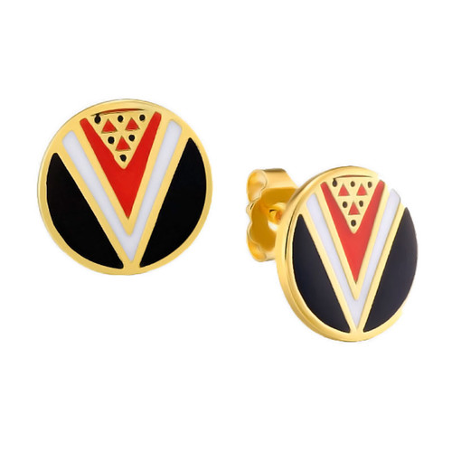 Wu-Yi Post Laurel Burch Earrings Black - 6038