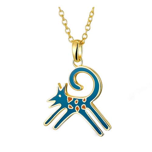 Felicity Blue Laurel Burch Necklace - 5080