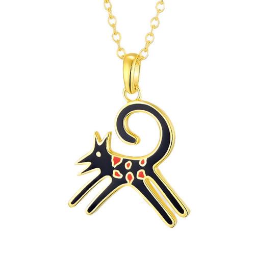 Felicity Black Laurel Burch Necklace - 5082