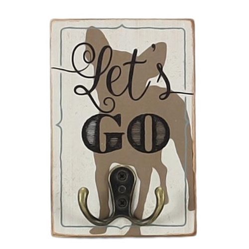 Lets Go Wood Hook Wall Decor 16482