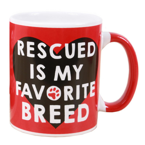 Rescued is Favorite Breed Ceramic Mug 40227B