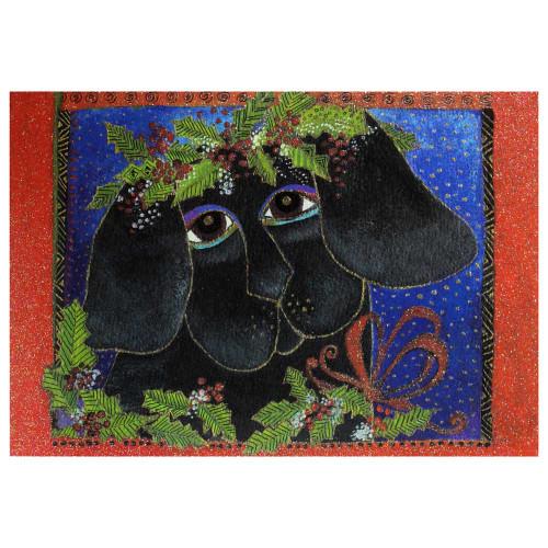 Laurel Burch Puppy Love Christmas Card 10 Card Box C73907