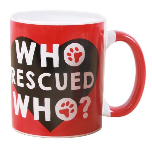 Who Rescued Who Ceramic Mug 40227W