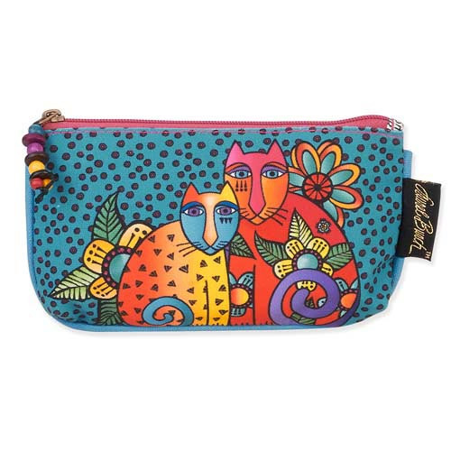 Laurel Burch 7x4 Cosmetic Bag Feline Clan Cat LB5338A