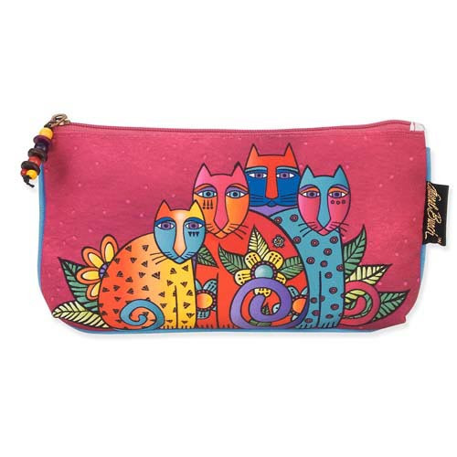 Laurel Burch 9x5 Cosmetic Bag Feline Clan Cat LB5338B